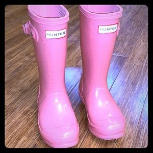 💕💕Pretty in Pink Hunter Boots With Sparkle💕💕